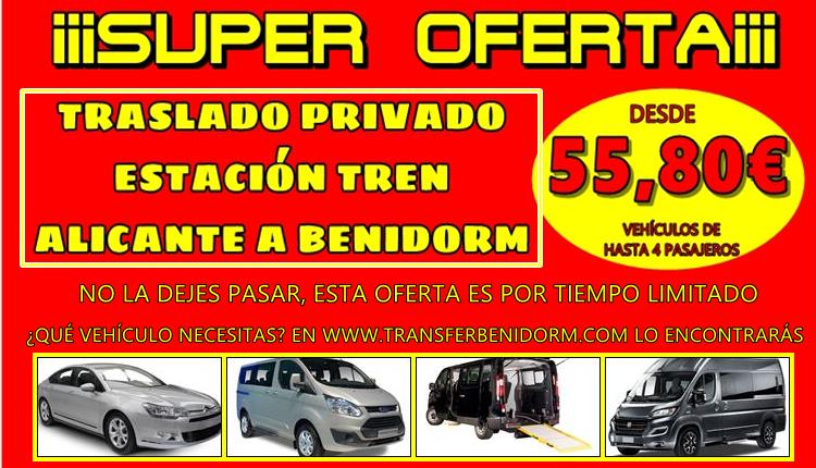 Offer Transfer Alicante Train Station to Benidorm.