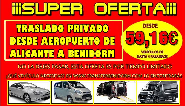 How much does a taxi from Alicante Airport to Benidorm cost?