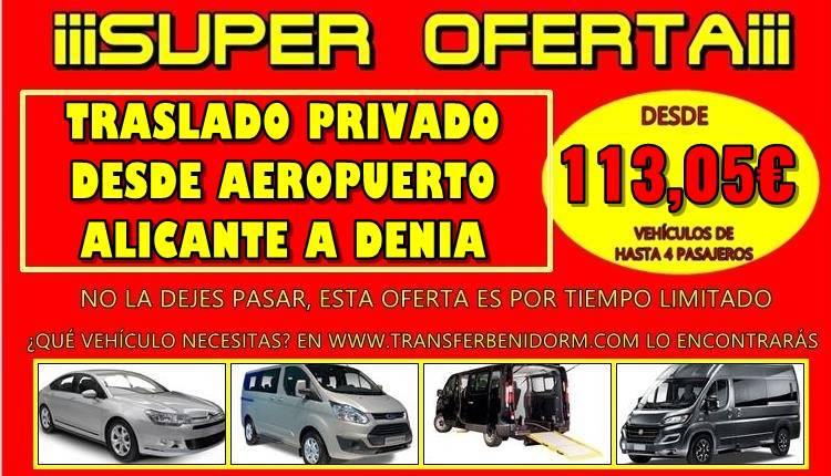 How much does it cost or what is the price of a taxi or transfer from Alicante Airport to Denia?